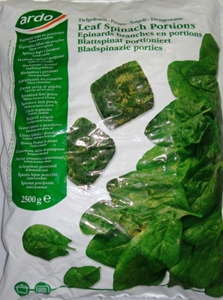 Picture of Frozen Leaf Spinach 2500g