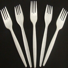 Picture of Plastic White Forks 100 pieces