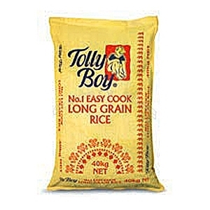 Picture of Tolly Boy Easy Cook Long Grain Rice 40kg – Hessian Bag